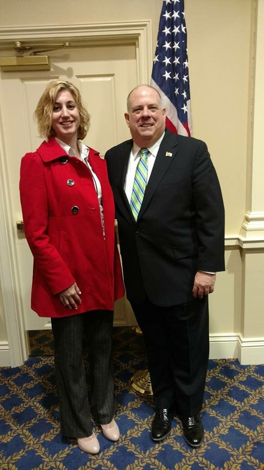 With our popular Governor, Larry Hogan